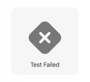 Test failed message