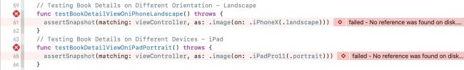 iPad testing failed