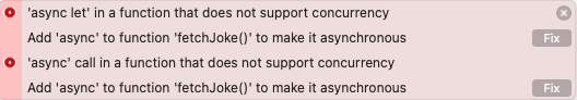 You can't call async from a non-async function.