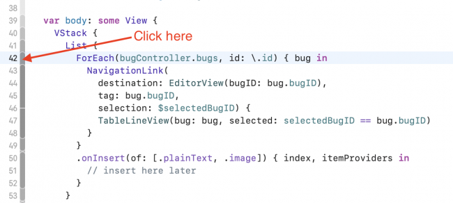 click in the ribbon to fold the code