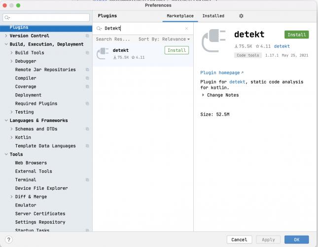 detekt IDE plugin