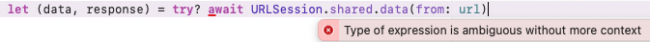 Xcode refuses to understand try? here.