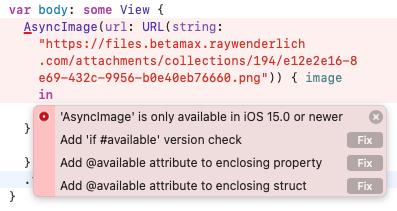 Availability error