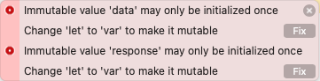 Immutable value may only be initialized once.