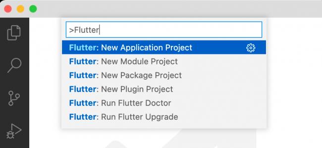 Creating a new Flutter app in VS Code