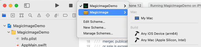 Compiling the MagicImage Library
