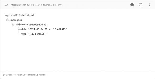 Data in Firebase Console