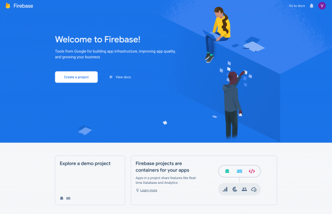 Create a project in the Firebase Console