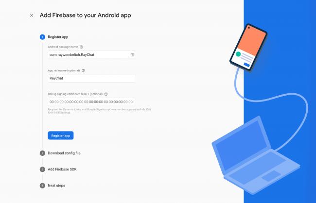 Register Android app