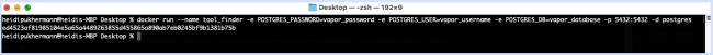 Create a PostgreSQL Docker container
