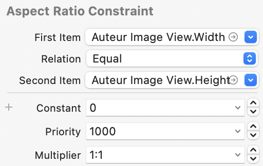 Aspect ratio width to height one to one