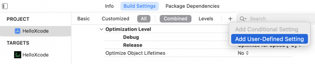 Adding a new user-defined build setting