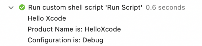 Two new messages are showing in the build log.