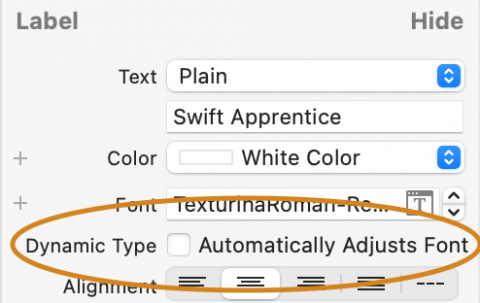Supporting Dynamic Type in Storyboards