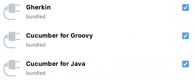 Enable the IDE plugins for Gherkin, Cucumber for Groovy and Cucumber for Java