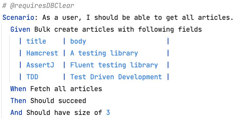 Scenario to bulk create articles and fetch them