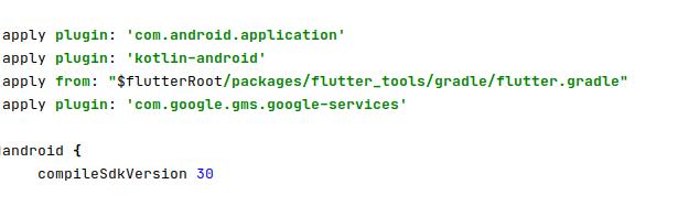 Adding Google Plugin in app/build.gradle file