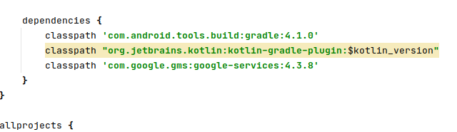 Adding Google dependency in build.gradle file