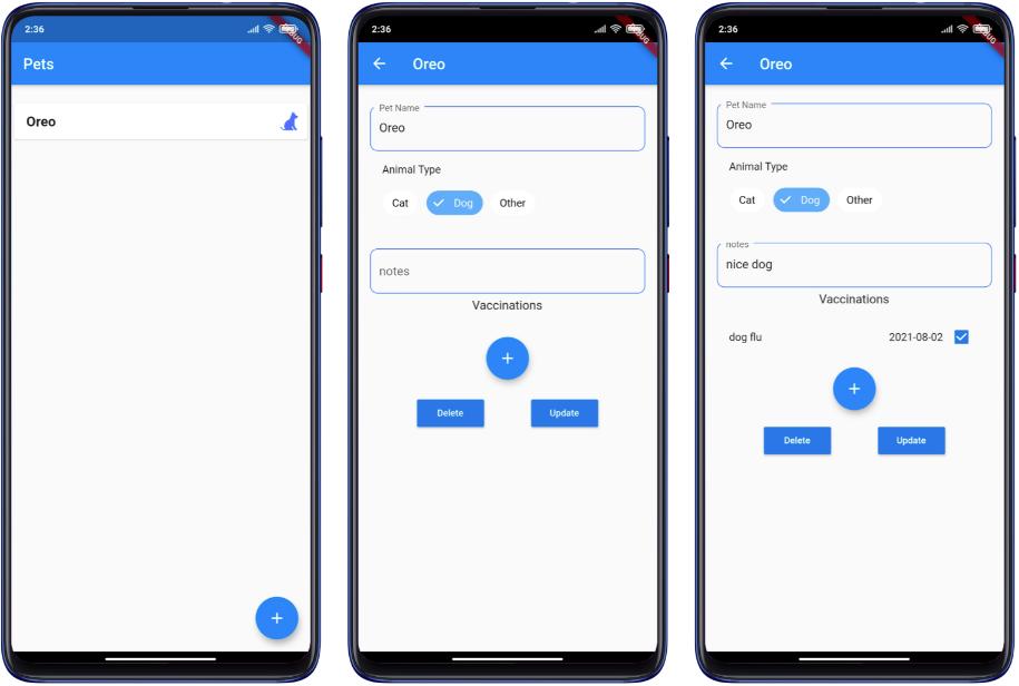 Full app navigation