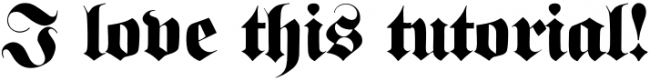 Blackletter font style